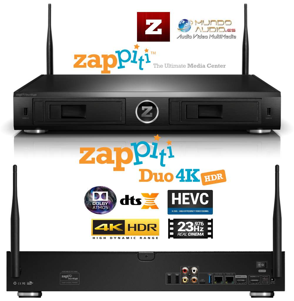 Zappiti Duo 4k Hdr Imundoaudio Audio V Deo Y Multimedia -> Sala De Tv Irregular