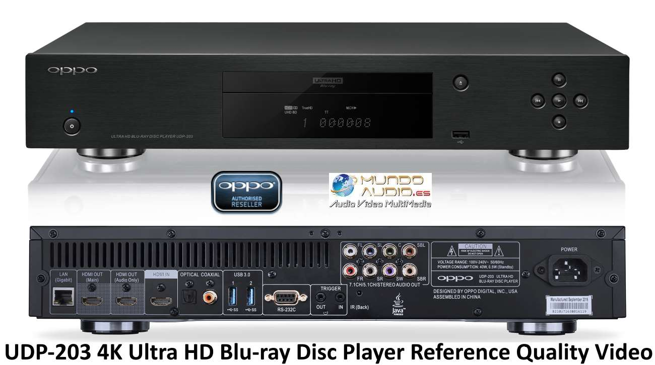 OPPO UDP-203 4K Ultra HD Blu-ray Disc Player Reference Quality Video with HDR & Dolby Vision