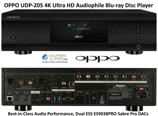 OPPO UDP-205 4K Ultra HD Audiophile Blu-ray Disc Player