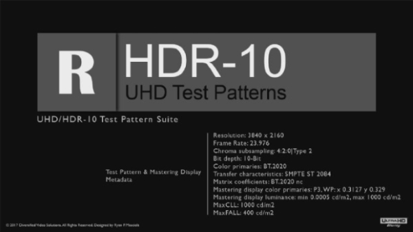 DVS UltraHD | HDR-10 AdvancedVideo Calibration Solutions