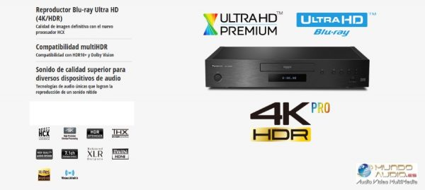 Reproductor Blu-ray Ultra HD DP-UB9000